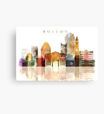 City of Boston - watercolor Canvas Print