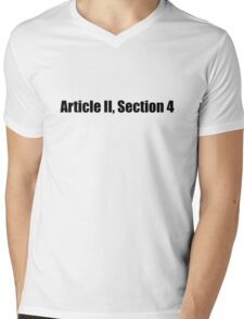 Article 2 Section 4 Constitution Impeach Trump Mens V-Neck T-Shirt