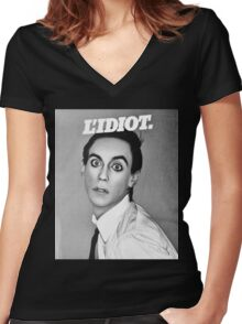 iggy pop Women's Fitted V-Neck T-Shirt