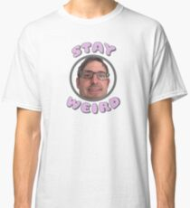 """Stay Weird"" Louis Theroux Print Classic T-Shirt"
