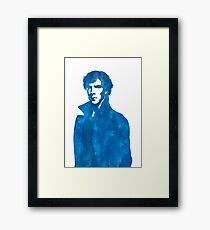 Sherlock Blue Vector Graphic Framed Print