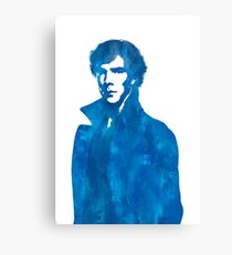 Sherlock Blue Vector Graphic Canvas Print
