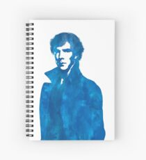 Sherlock Blue Vector Graphic Spiral Notebook