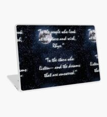 A Court of Mist and Fury Stars Quote Laptop Skin