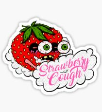 Strawberry Cough Sticker