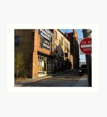 cobbled streets of the past cockcade alley petersburg va Art Print