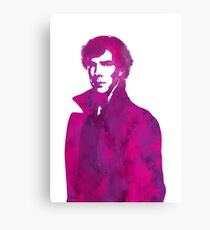 Sherlock pink vector graphic Canvas Print