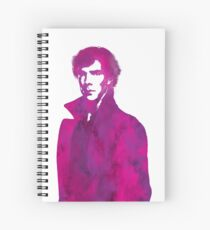 Sherlock pink vector graphic Spiral Notebook