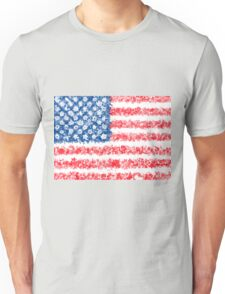 american flag usa flag floral Unisex T-Shirt
