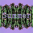 Cacti Summer Reflections Typography  by LouisaCatharine