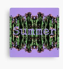 Cacti Summer Reflections Typography  Canvas Print