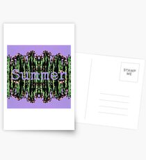 Cacti Summer Reflections Typography  Postcards