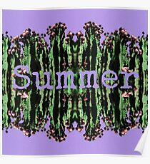 Cacti Summer Reflections Typography  Poster