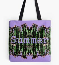 Cacti Summer Reflections Typography  Tote Bag