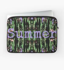 Cacti Summer Reflections Typography  Laptop Sleeve