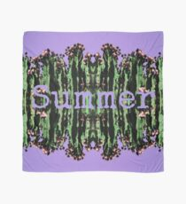 Cacti Summer Reflections Typography  Scarf