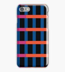 Retro Night Stripes Grid iPhone Case/Skin