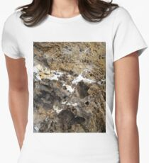 A Rocky face in the Ancient Rock. Women's Fitted T-Shirt