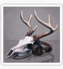 Deer Music Sticker