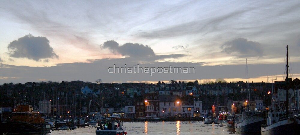 weymouth harbour at sunset by christhepostman