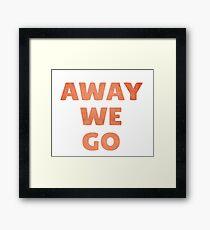 Away We Go in Red Rock Framed Print