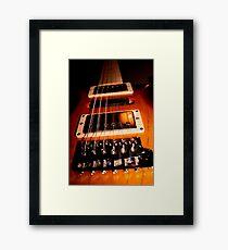 Gig Guitar Framed Print