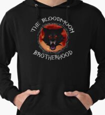 The Bloodmoon Brotherhood Curved text Lightweight Hoodie