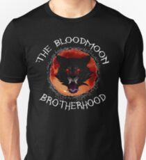 The Bloodmoon Brotherhood Curved text T-Shirt