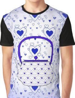 Blue Teapot Graphic T-Shirt