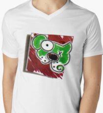 Dog Pin Mens V-Neck T-Shirt