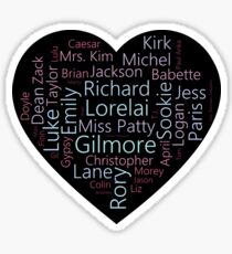 Character Word Cloud | Gilmore Girls Sticker