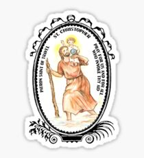 Saint Christopher Patron of Travel Sticker