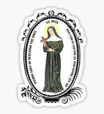 Saint Rita Patron of Defeating the Odds Sticker