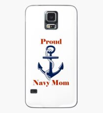 Proud Navy Mom Case/Skin for Samsung Galaxy