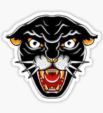 Old school Kitty cat, Orange and black Sticker