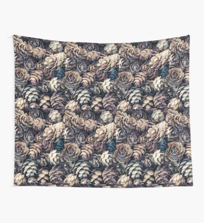 Tiny Pinecones Wall Tapestry