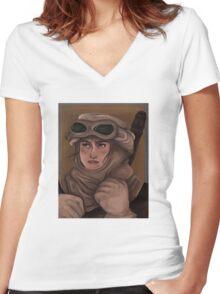 Scavenger Rey Women's Fitted V-Neck T-Shirt