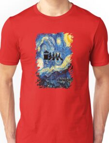 The Doctor Flying With Starry Night Unisex T-Shirt