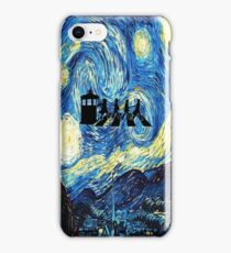 The Doctor Flying With Starry Night iPhone Case/Skin