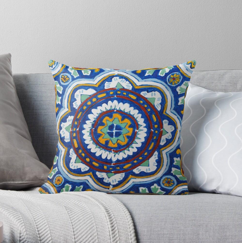 Talavera on Canvas Throw Pillow