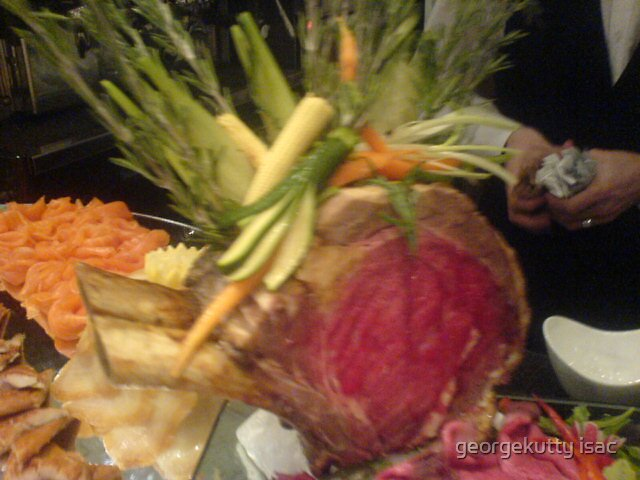 roast beef with vegetables by georgekutty isac