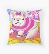 French Bulldog Fairy Throw Pillow