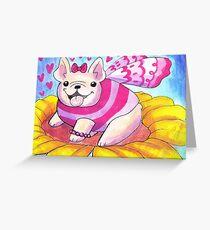 French Bulldog Fairy Greeting Card