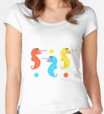Seahorses Women's Fitted Scoop T-Shirt
