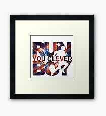 Run You Clever Boy Framed Print