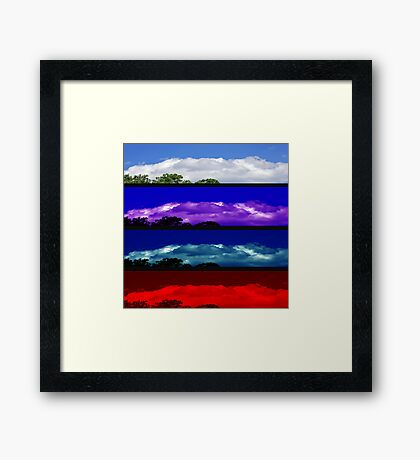 Attitudes of the Sky Framed Print