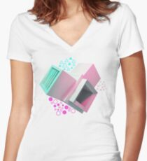SoftCubic Women's Fitted V-Neck T-Shirt