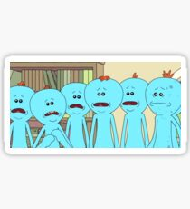 Mr Meeseeks Rick and Morty Sticker