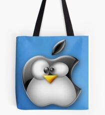 Linux Apple Tote Bag
