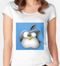 Linux Apple Women's Fitted Scoop T-Shirt